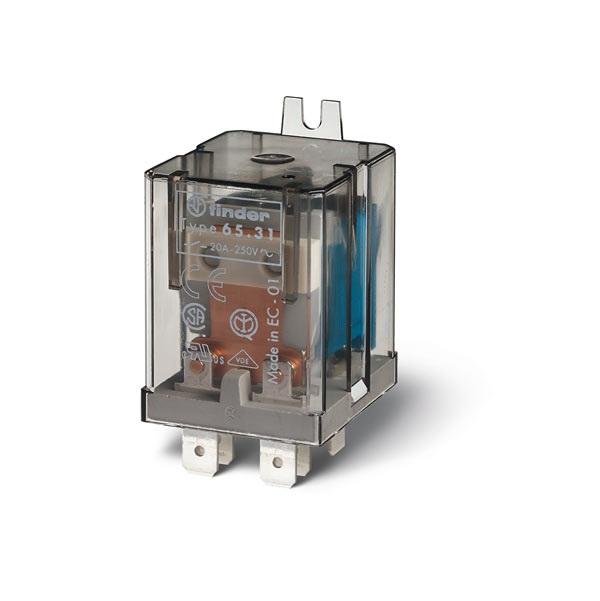 Relè di potenza AC (50/60Hz) 230 V AgCdO NO (distanza tra contatti  aperti ≥ 3 mm)