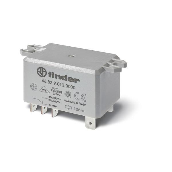 Relè di potenza DC 125 V AgNi NO (apertura ≥ 1.5 mm) Versione con 5 mm di distanza tra base del relè e circuito stampato