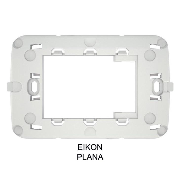 Supporto adattatore per placca Vimar PLANA, EIKON, bianco