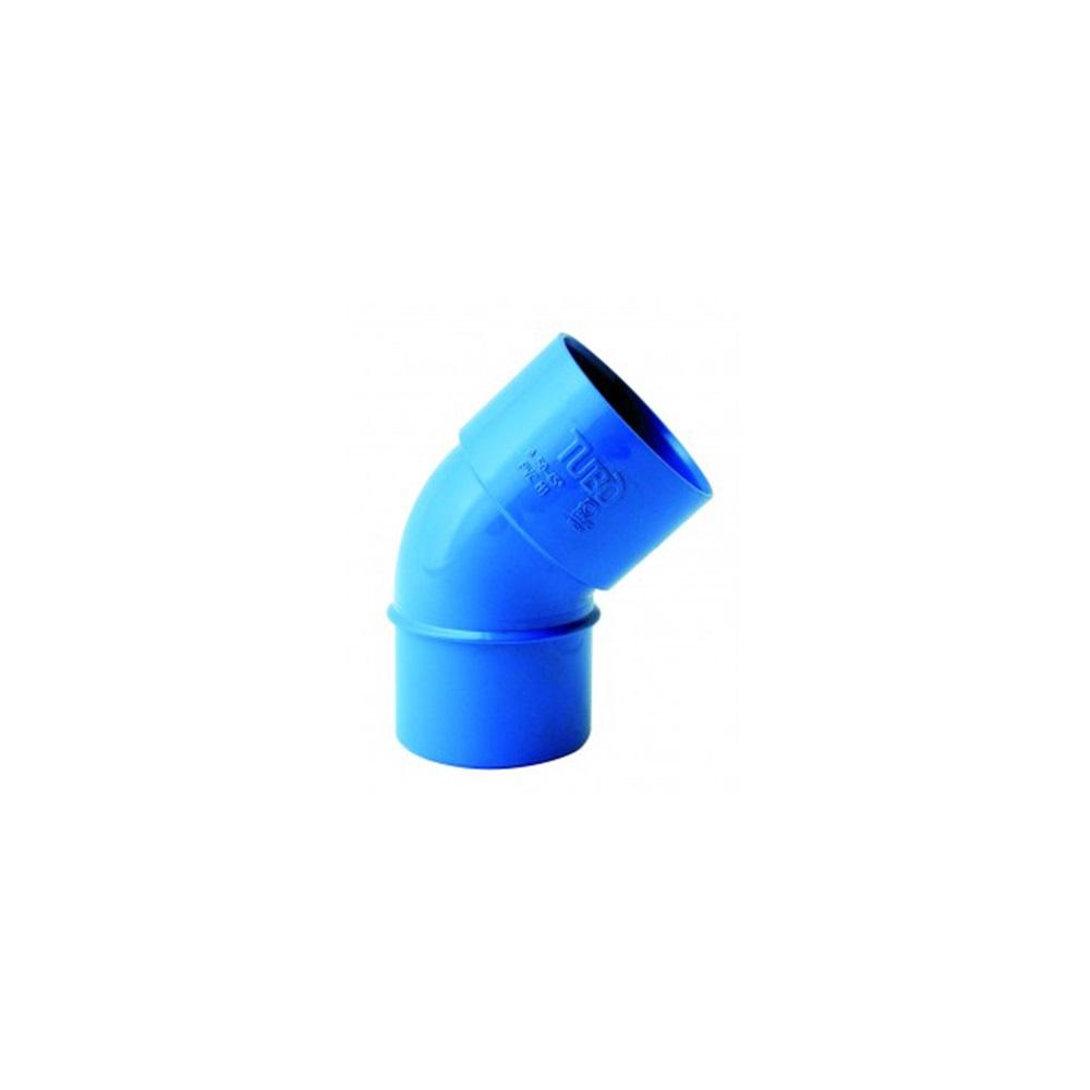 Curva PVC diametro 50 mm a 45° FF