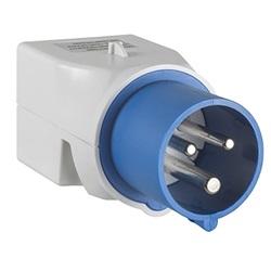 Adattatore IC 2p+T 16A 230V/2p+T, UNEL/bipasso.