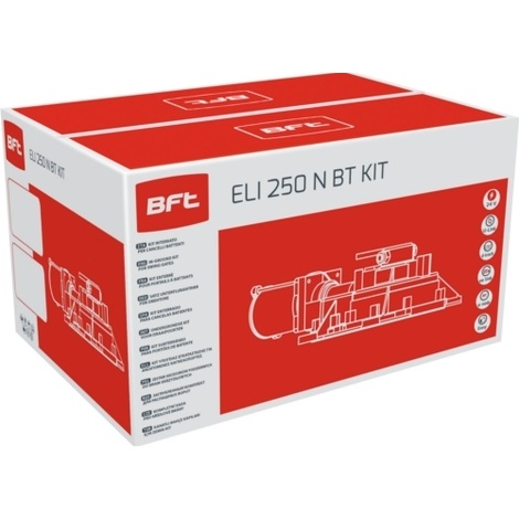 Kit ELI 250 N BT completo per lautomazione di cancelli a battente