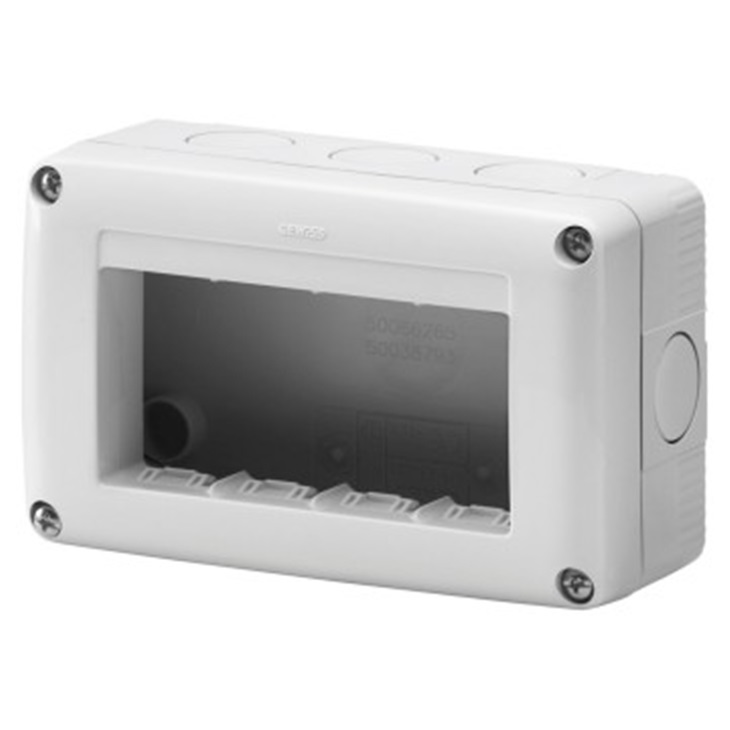 Contenitore per apparecchi System 4 moduli orizzontale protetto IP40