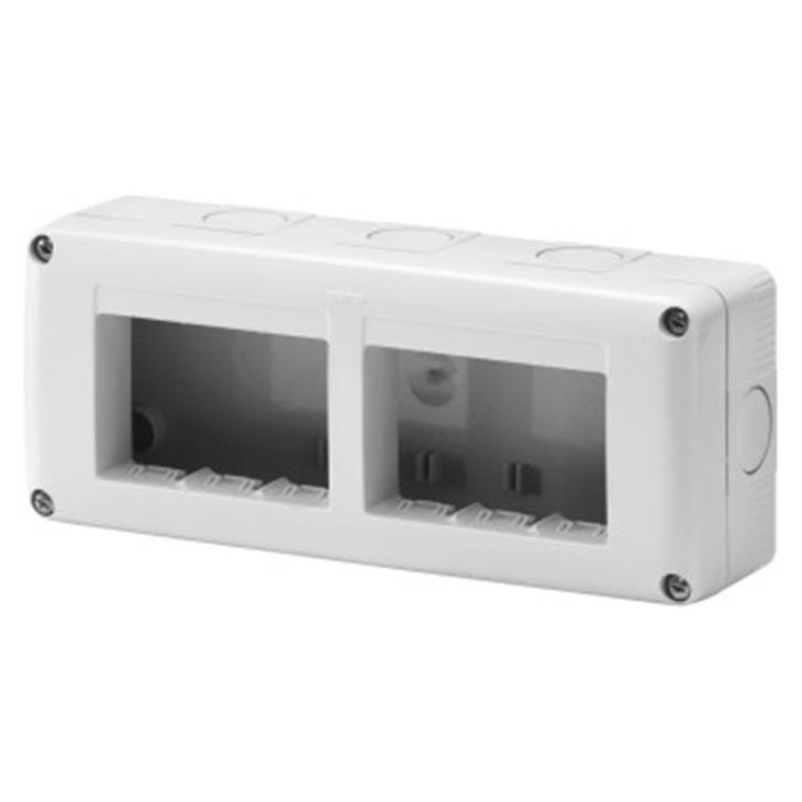 Contenitore per apparecchi system orizzontale protetto 6 posti in modulo 3x2 IP40