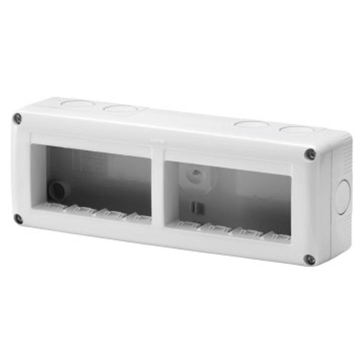 Contenitore per apprecchi System orizzontale protetto 8 posti in modulo 4X2 IP40