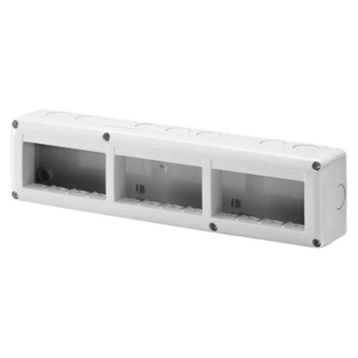 Contenitore per apparecchi System orizzontale protetto 12 posti in modulo 4X3 IP40