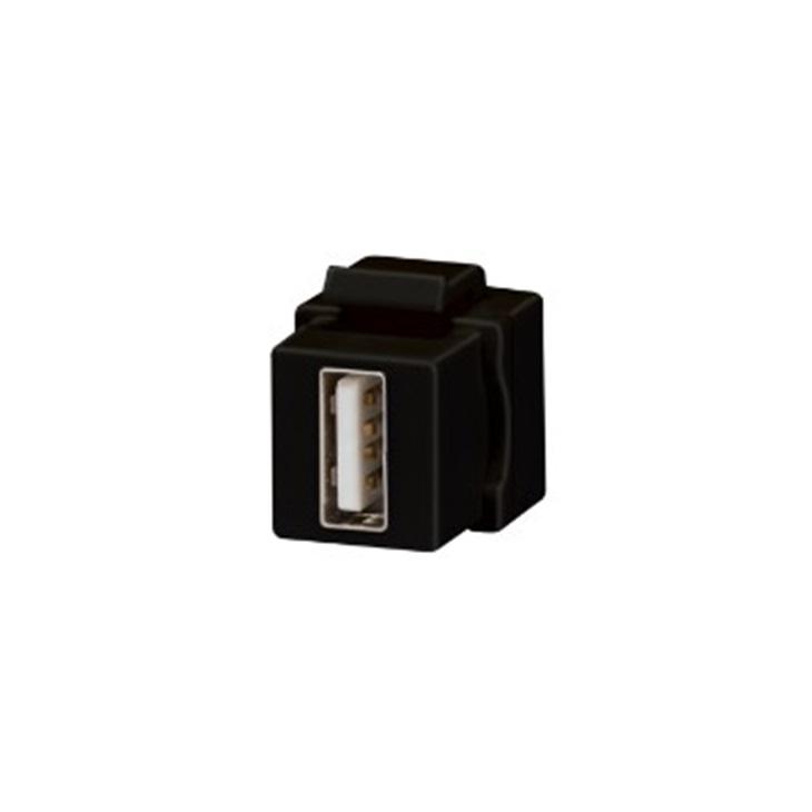 ACCOPPIATORE USB KEYSTONE JACK NERO