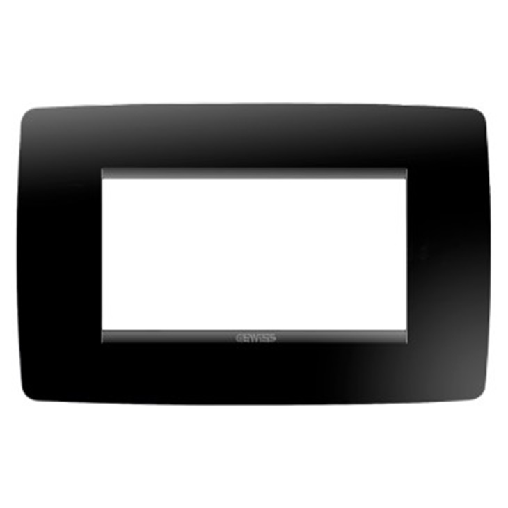 Placca One 4 moduli nero toner