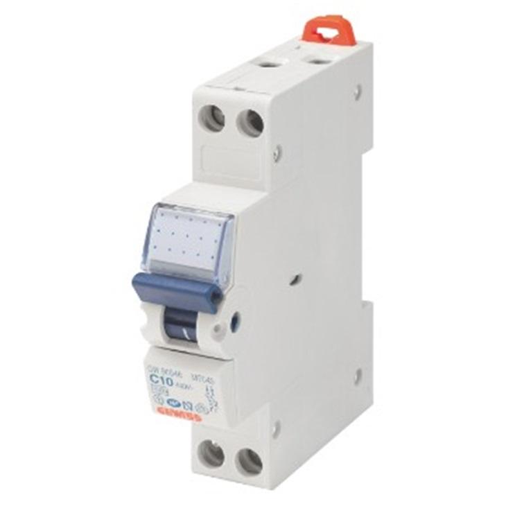 Interruttore magnetotermico compatto MTC 45 CURVA C 6A 1P+N  4,5kA