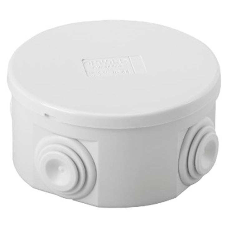 Cassetta di derivazione con coperchio basso a pressione IP44 80X40  con pareti passacavi