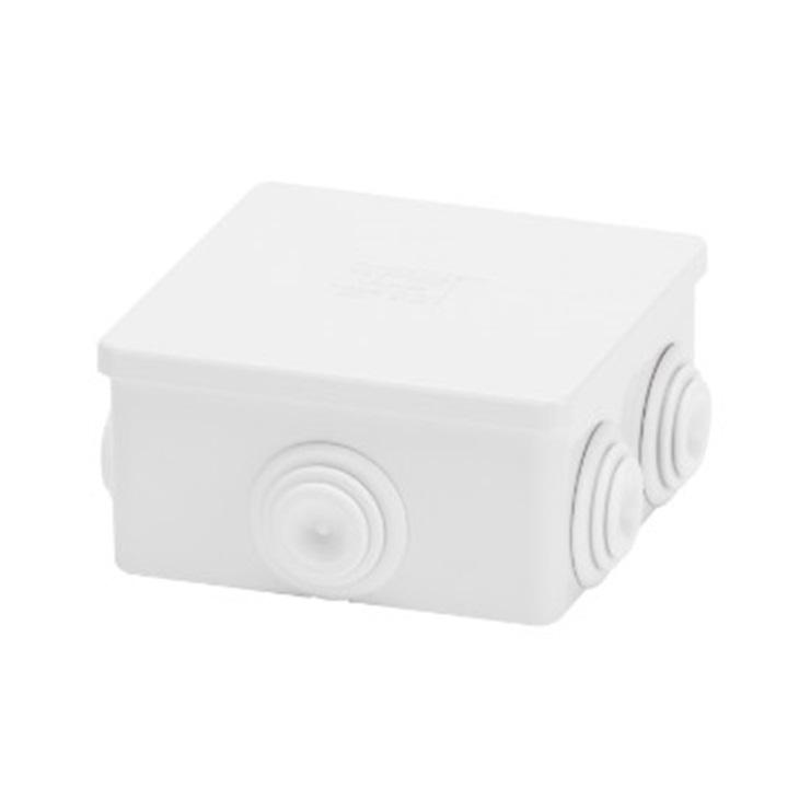 Cassetta di derivazione con coperchio basso a pressione IP44 80X80X40 pareti con passacavo