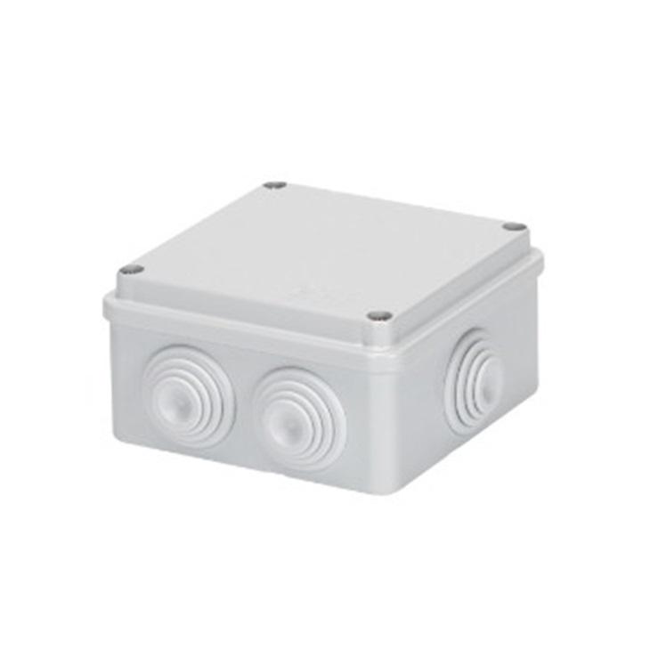 Cassetta di derivazione con coperchio basso a vite IP55 100X100X50 pareti con passacavi