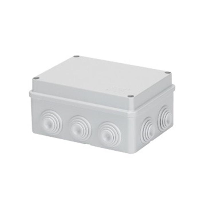 Cassetta di derivazione con coperchio basso a vite IP55 150X110X70 pareti con passacavi