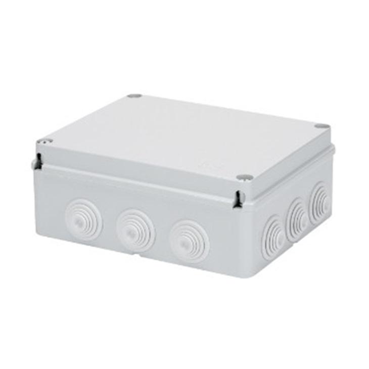 Cassetta di derivazione con coperchio basso a vite IP55 240X190X90 con passacavi