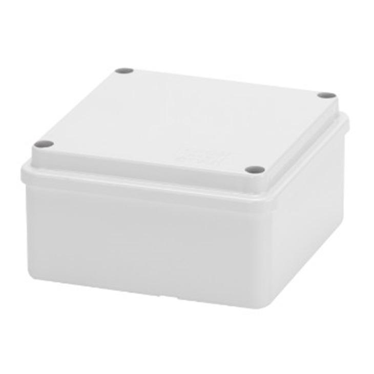 Cassetta di derivazione con coperchio basso a vite IP56 pareti lisce 100X100X50