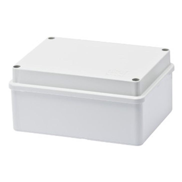 Cassetta di derivazione con coperchio basso a vite IP56 pareti lisce 150x110x70