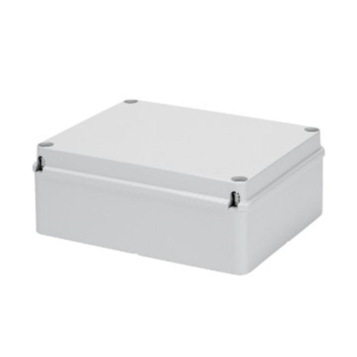 Cassetta di derivazione con coperchio basso a vita IP56 pareti lisce 240x190x90