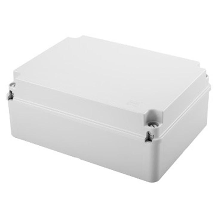 Cassetta di derivazione con coperchio basso a vite IP56 pareti lisce 300x220x120