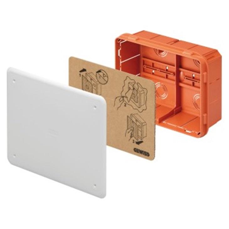 Cassetta di derivazione e connessione da incasso 196x152x75 mm