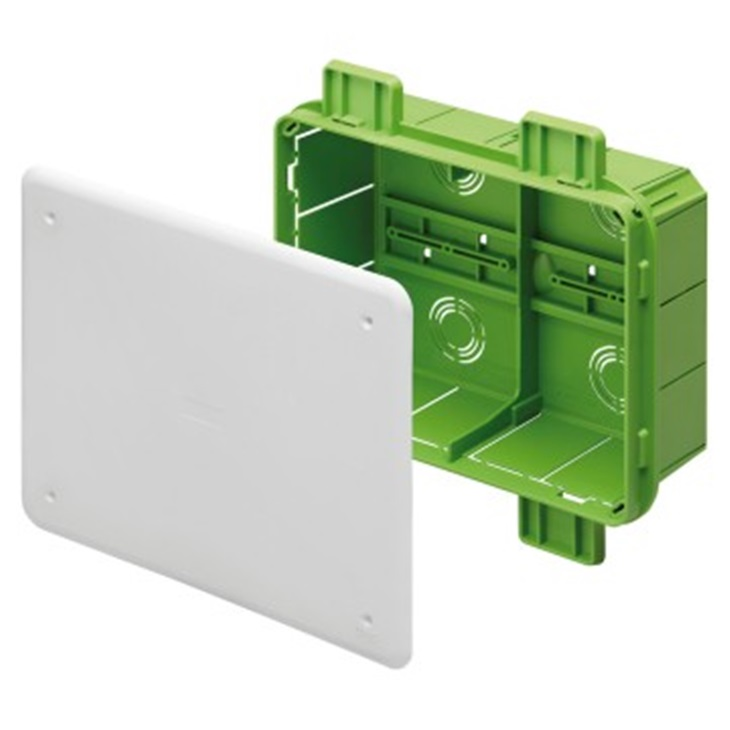 Cassetta di derivazione e connessione da incasso 294x152x75 mm Green wall