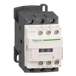 Contattore TeSys LC1D, 3 poli, AC3 440V 12A, 220 V AC.