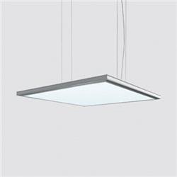 iplan - 596 x 596 mm h 26 mm - LED warm white- cablaggio elettronico - ottica luce generale