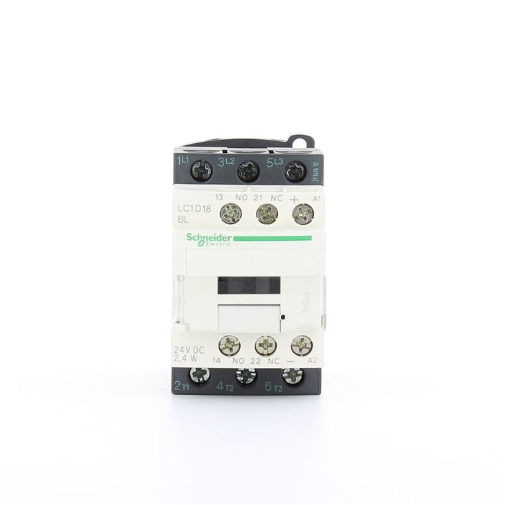 Contattore Schneider Electric LC1D18BL, contatti 3 NO, 18 A, 690 V c.a., bobina 24 V c.c.