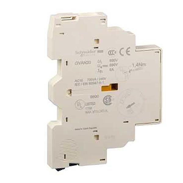 Contatto ausiliario a vite serie GVAN GVAN20, 2 contatti, 2 NO, 240 V c.c., 690 V c.a., montaggio laterale