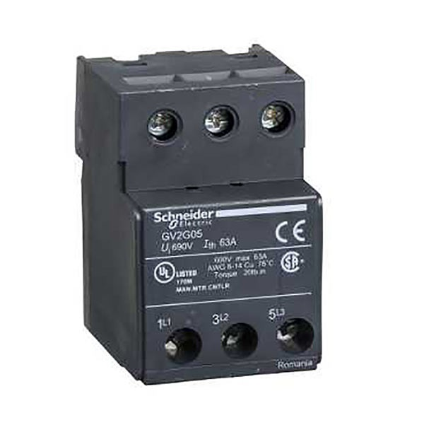 Morsettiera Schneider Electric GV2G05 GV2G per uso con Serie GV2