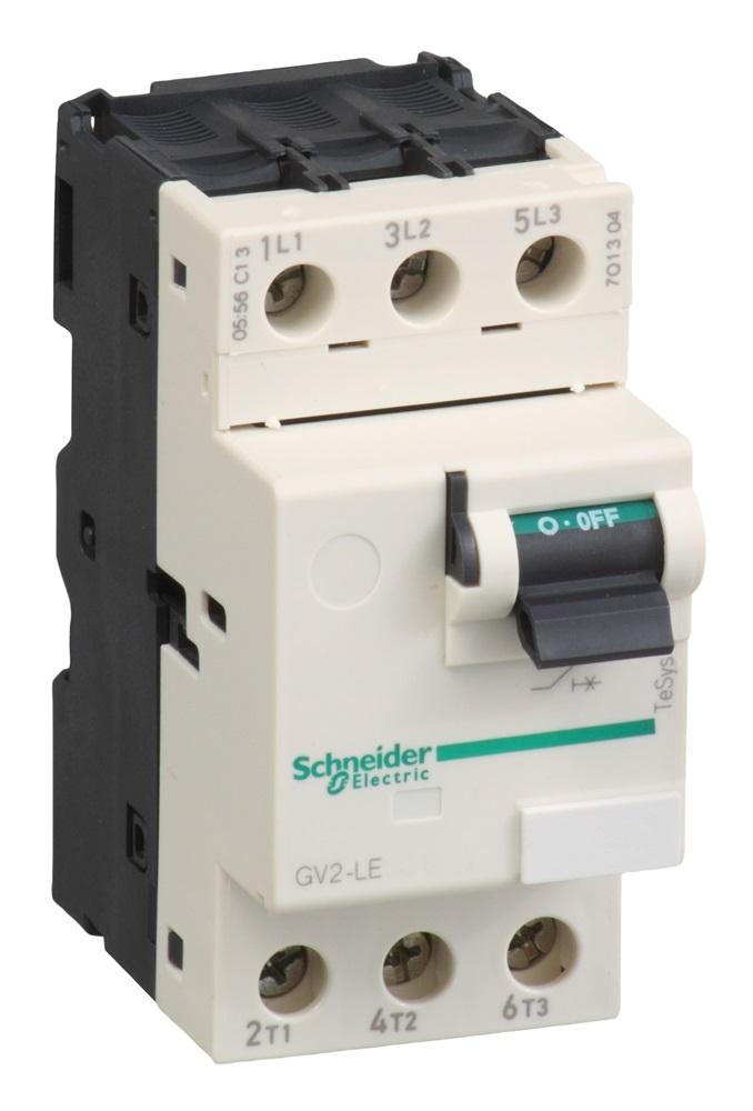 Interruttore automatico GV2LE 1,6A 3 poli 3d