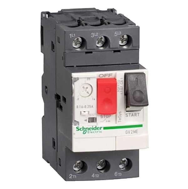 Interruttore protezione motori 3P Schneider Electric GV2ME01 serie GV2M, 0,1 → 0,16 A, 690 V