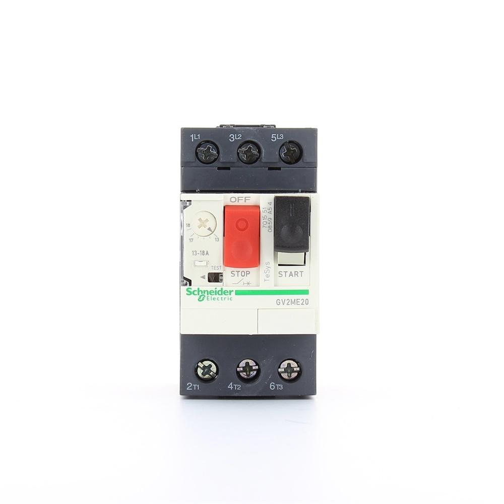Interruttore protezione motori 3P Schneider Electric GV2ME20 serie GV2M, 13 → 18 A, interruzione 3 kA, 690 V