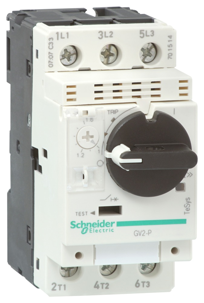 Interruttore automatico GV2P 0,4-0,63A 3d