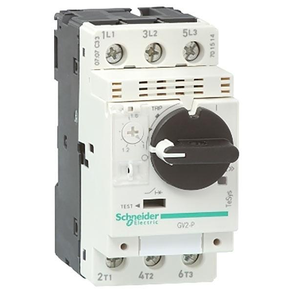 Interruttore protezione motori 3P Schneider Electric GV2P07 serie GV2P, 1,6 → 2,5 A, interruzione 8 kA, 690 V