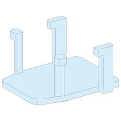 12 supporti otturatori Prisma per sbarre Linergy
