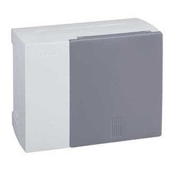 Centralino Mini Pragma parete 6moduli bianco porta traslucida.