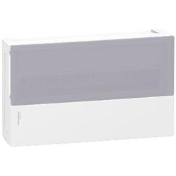 Centralino Mini Pragma parete 18moduli bianco porta traslucida.