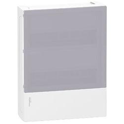 Centralino Mini Pragma parete 24 (2x12) moduli bianco porta traslucida.