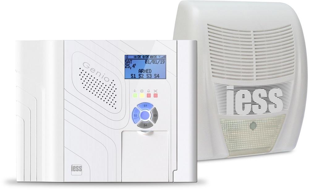 Kit antintrusione Radio composto da 01 GENIOSMART + 01 FLAMMER