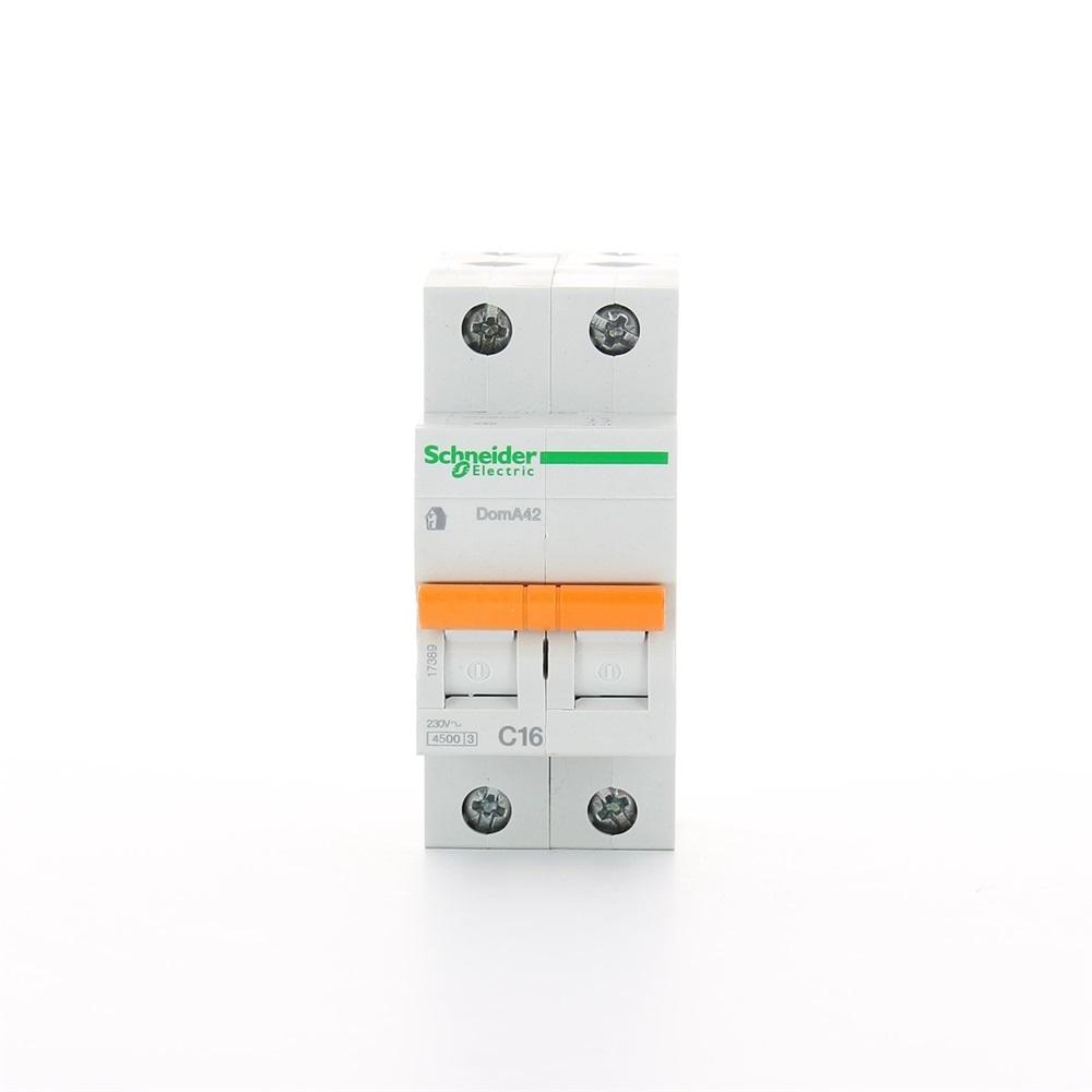 Interruttore magnetotermico DomA42 2P C 16A 4500A