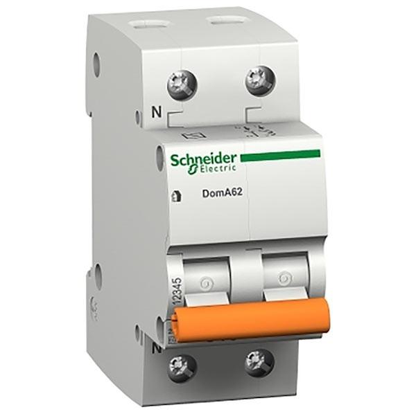Interruttore magnetotermico DOMA47 1P+N C  6A