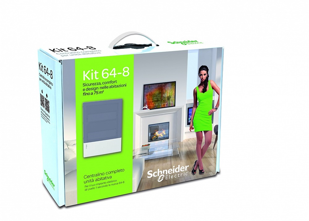 Kit elettrico domotico Schneider 64-8