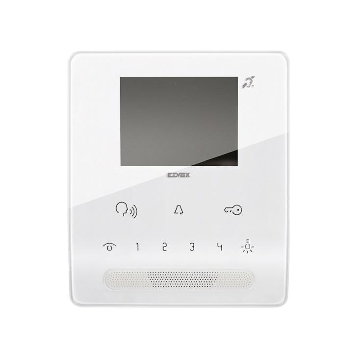 Videocitofono Tab vivavoce da parete per sistema Due Fili Plus con display a colori LCD 3,5 pollici