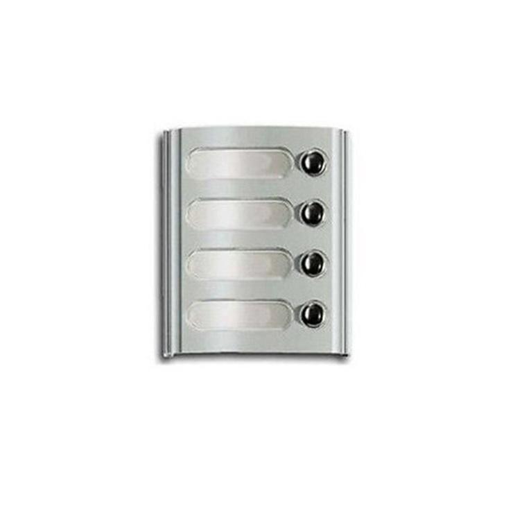 Modulo con 4 tasti grigio luce