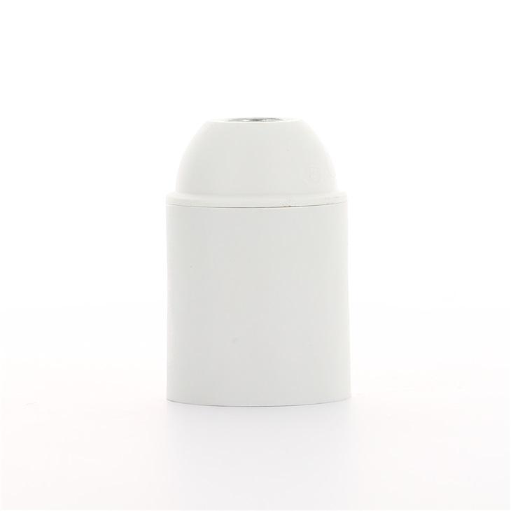 Portalampade E27 raccordo M10x1 con camicia liscia bianco