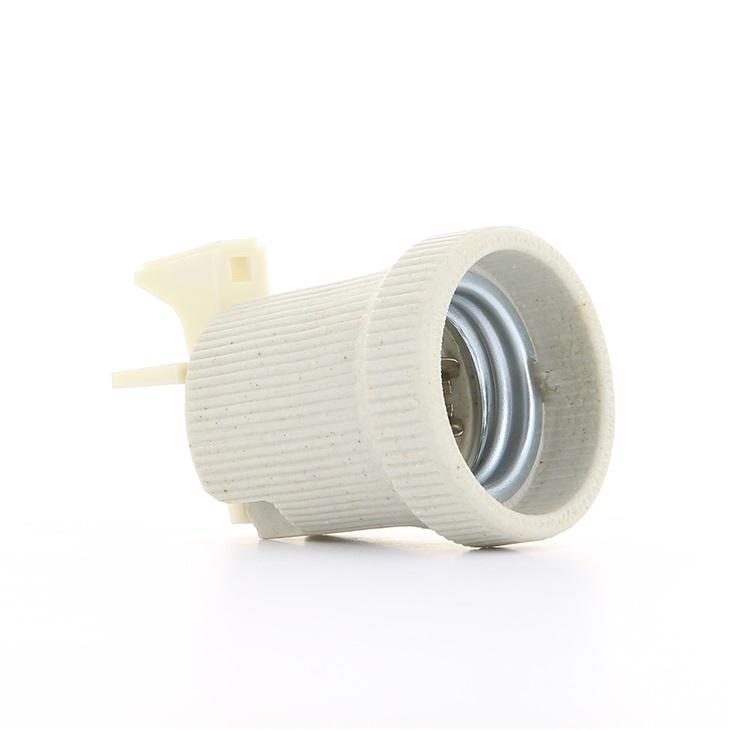 Portalampade E27 con corpo porcellana cilindrico ø 43 mm F/90 isolante