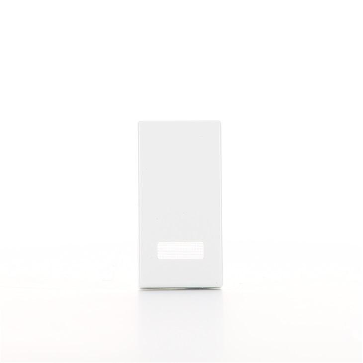 Tasto 1M con diffusore illuminabile bianco Plana