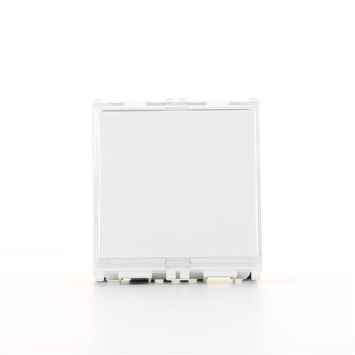 Pulsante a targhetta illuminabile 1P NO 10A 250V bianco Plana