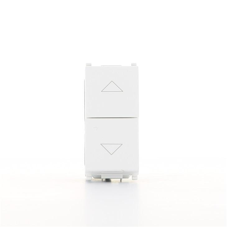 Due pulsanti interbloccabili 1P NO + NO 10A bianco Plana