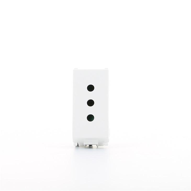 Presa di corrente Sicury standard italiano bianco 2P+T 10A 250V Serie Plana Plana